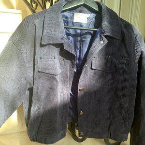 Lush navy corduroy cropped jacket - brand new